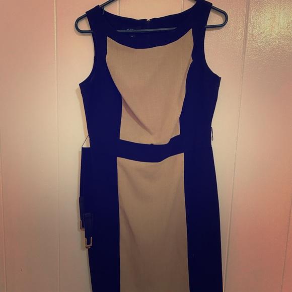 BCX Dresses & Skirts - BCX Beige and Black dress